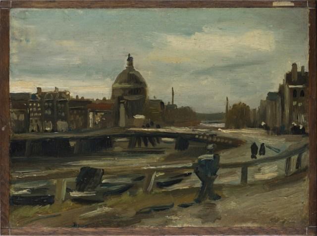 Singel met de Ronde Lutherse Kerk - Van Gogh