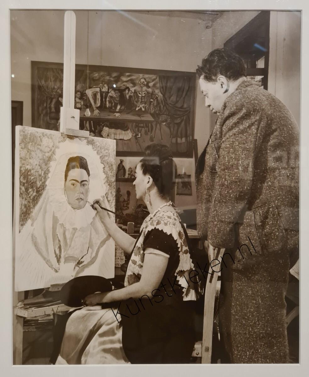 rida schildert Diego in mijn gedachten terwijl Diego toekijkt - 1940 -Bernard Silberstein