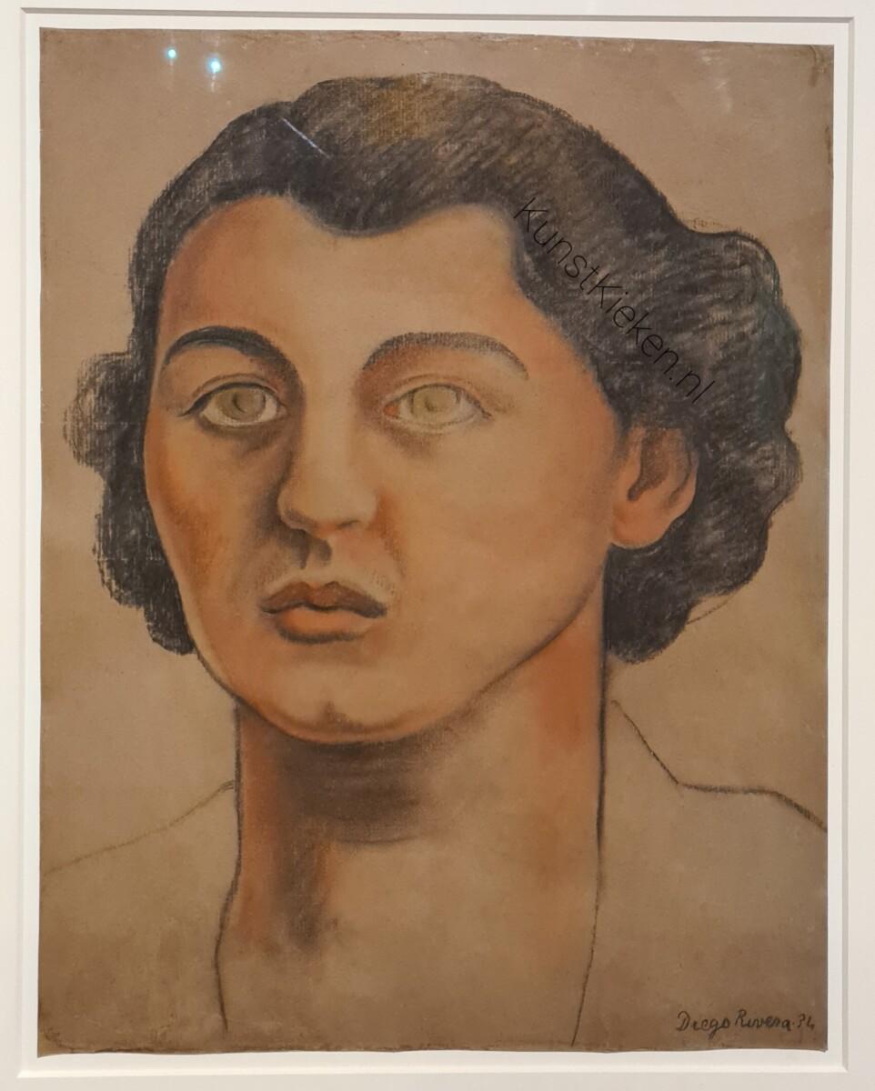 Portret van Cristina Kahlo 1934 - Diego Rivera