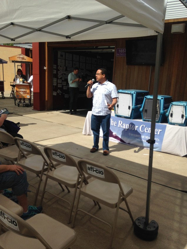 Keith Ellison Speaking at the AFL-CIO building at MN State Fair