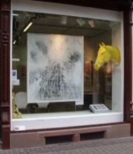 Schaufenster Ausstellung Jana Bergemann