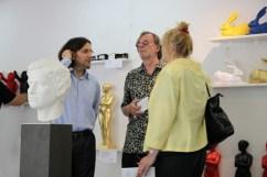 Galerist Jürgen Leibig links