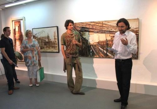 Valerio Giacone links mit Galerist Jürgen Leibig
