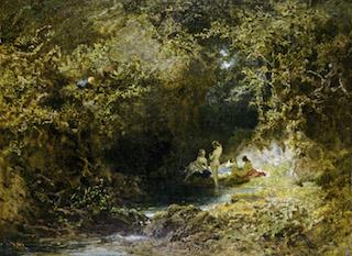 Carl Spitzweg, Badende Nymphen, 1870/75 © Museum Georg Schäfer, Schweinfurt
