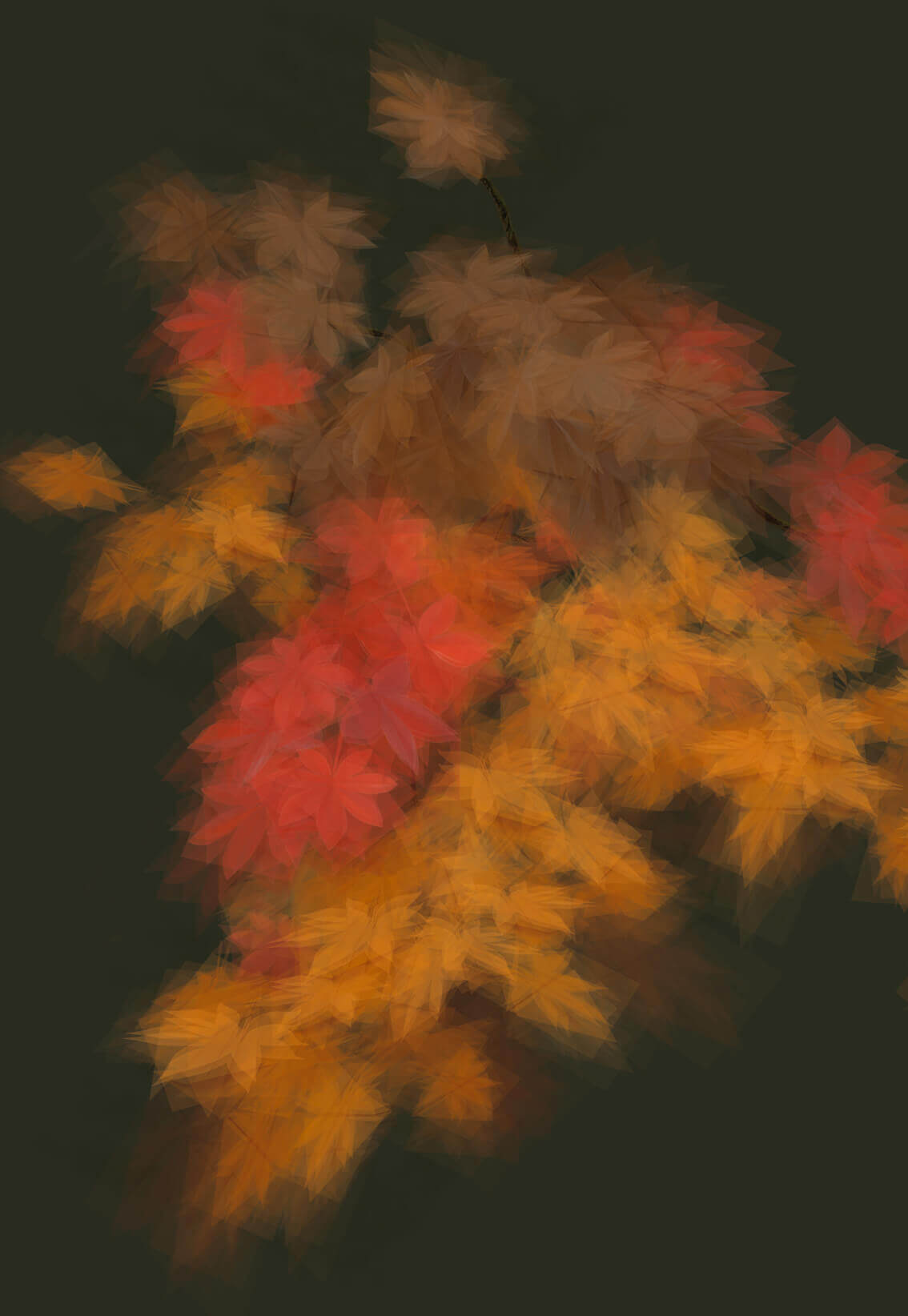 Margarete Schrüfer - Herbst In Simulacrum III 2021 – Giclée print – number 1 out of 3 – 130 x 90 cm
