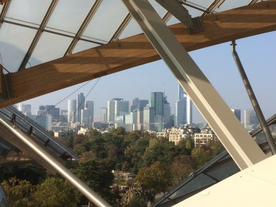 Uitzicht vanuit Fondation Louis Vuitton
