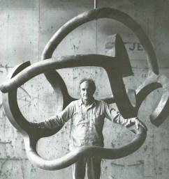 Eduardo Chillida in zijn Eerbetoon aan Calder (1979 Homenaje a Calder).