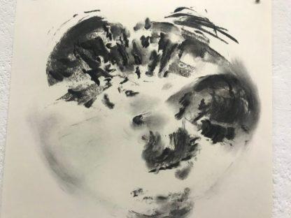 Liesje van den Berk, tekening houtskool van Berk