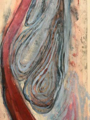 Louise Bourgeois, Detail van 'I Give Everything Away. Ets en gemengde techniek op papier, 2010