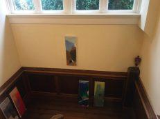 Olieverfschilderijen van Jan Baas. Puzzelen welke mooi bij elkaar staan. Elkaar versterken.