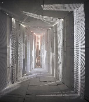 """Jan Theun van Rees, Camera Lucida, Passage. """"in a self-constructed environment I experiment with incident light""""."""