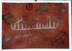 Werk van Antoon Loomans geïnspireerd op Zweedse rotstekeningen in Galleri Henneviken