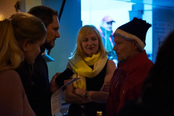 Künstlerin Lilly Urbat (Mitte), Juergen Teller, Foto: Markus Faber