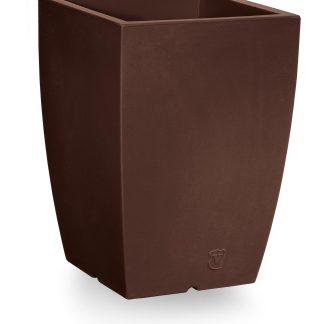 VECA plantenbak Genesis, vierkant, hoogte 50 cm, breedte 36 cm, bruin - kunstplantshop.nl