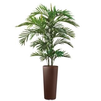 HTT - Kunstplant Areca palm in Clou rond bruin H185 cm - kunstplantshop.nl
