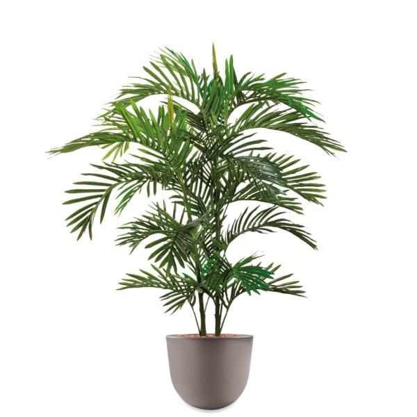 HTT - Kunstplant Areca palm in Eggy taupe H130 cm - kunstplantshop.nl
