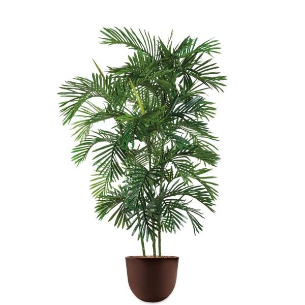HTT - Kunstplant Areca palm in Eggy bruin H190 cm - kunstplantshop.nl