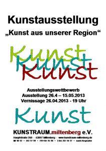 Plakat - Ausstellungswettbewerb 2013
