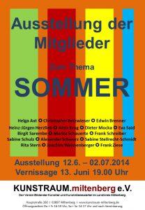 Plakat Mitgliederausstellung Juni 2014