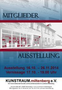 Mitglieder Ausstellung Herbst 2014 - Plakat
