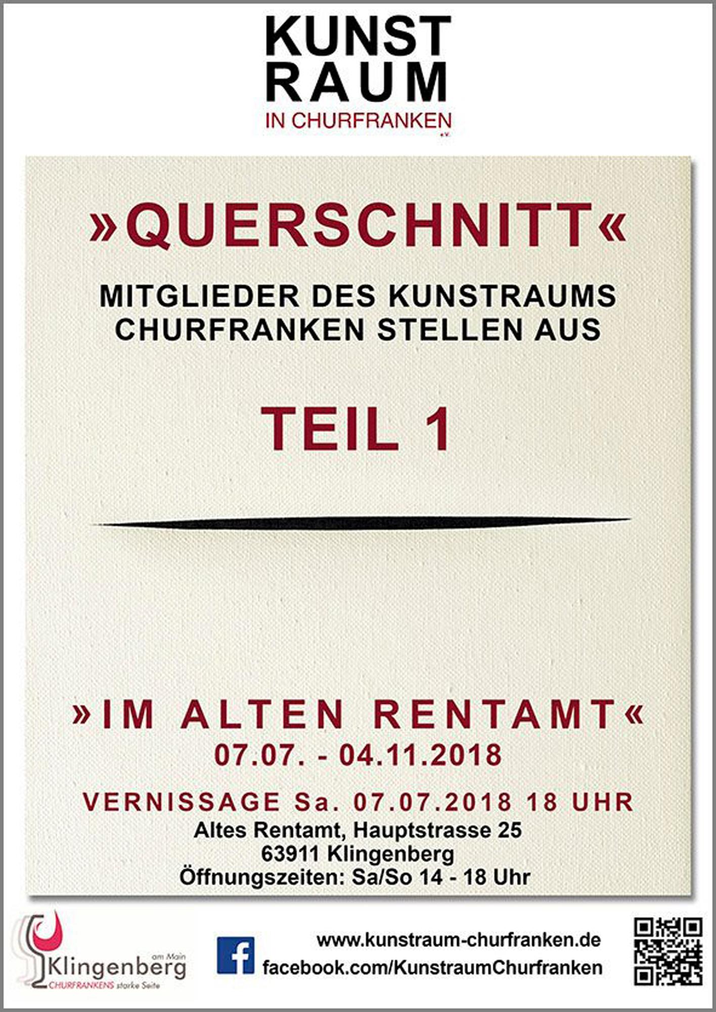 """""""QUERSCHNITT""""- Mitglieder des Kunstraum Churfranken stellen aus"""