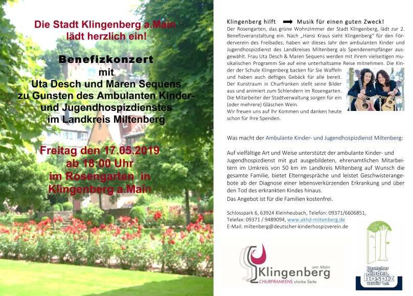 Benefitzkonzert im Rosengarten in Klingenberg am Main