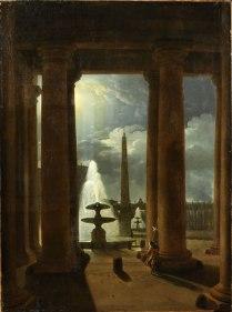 Franz Ludwig Catel (1778–1856) Blick durch die Kolonnaden von St. Peter bei Mondschein, 1818/24 Öl auf Leinwand, 100 x 74 cm Privatbesitz