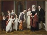 Christoffer Wilhelm Eckersberg (1783–1853) , Die Familie Nathanson, 1818, Öl auf Leinwand, 126 x 172,5 cm , Kopenhagen, Statens Museum for Kunst, Foto: SMK - The National Gallery of Denmark