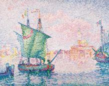 Paul Signac - Venedig, die rosa Wolke, 1909, Öl auf Leinwand, © Albertina, Wien - Sammlung Batliner