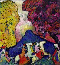 Wassily Kandinsky, Der blaue Berg, 1908/09, © Solomon R. Guggenheim Foundation, New York