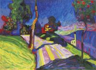 Wassily Kandinsky, Murnau – Kohlgruberstrasse, 1908, © Merzbacher Kunststiftung