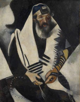 Marc Chagall - Der Jude in Schwarz-Weiss