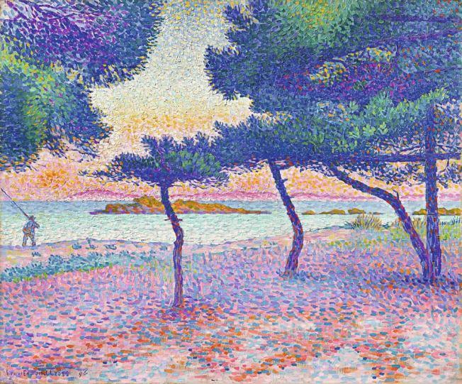 Henri-Edmond Cross, Der Strand von Saint-Clair, 1896, Privatsammlung