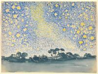 Henri Edmond Cross - Landscape with stars
