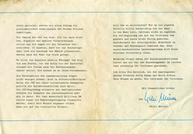1966_FDP_Wahlwerbung_MH_Willi_Mueller_Erich_Kroehan_Rueckseite_Vergessener_Briefkasten_Ruhrstr.3_Foto_by_Ivo_Franz