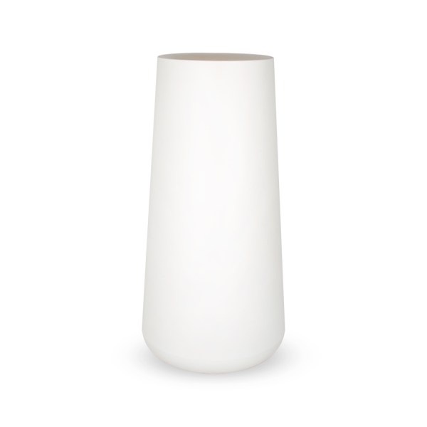 PLASTECNIC - Bloempot Vaso Lullaby Alto, H105 cm, wit - kunststofbloempot.nl
