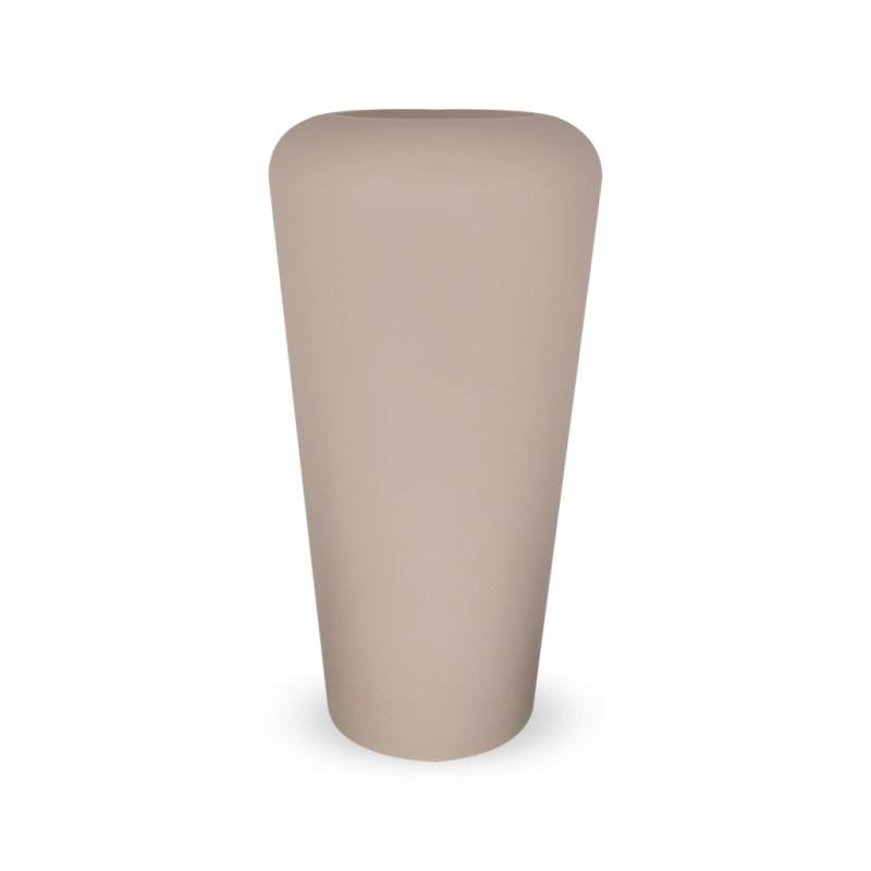 PLASTECNIC - Bloempot Vaso Mymou Alto, H105 cm, taupe - kunststofbloempot.nl