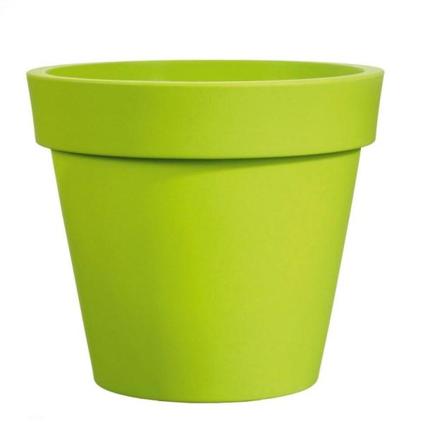VECA - Bloempot Easy, rond Ø55 cm, H49 cm, groen - kunststofbloempot.nl