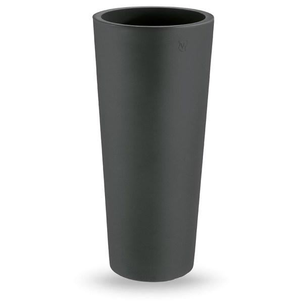 VECA - Bloempot Genesis, rond, H100 cm, antraciet - kunststofbloempot.nl