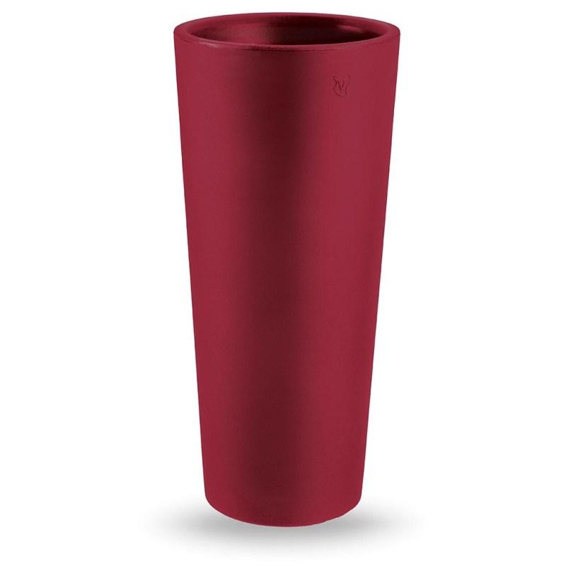 VECA - Bloempot Genesis, rond, 130 cm, rood - kunststofbloempot.nl