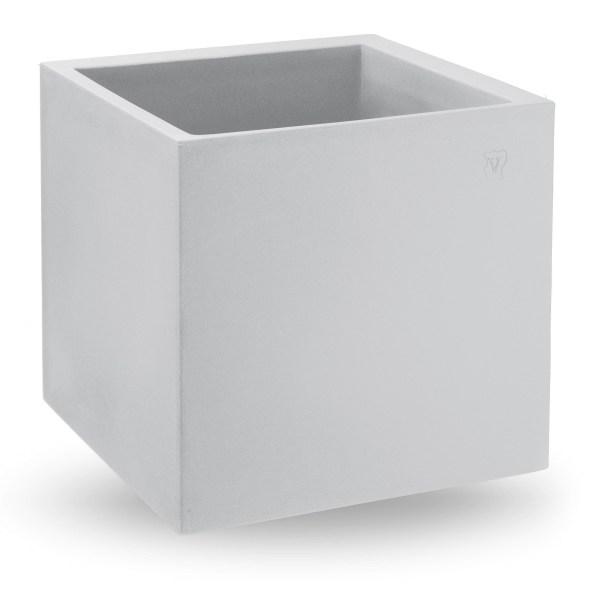 VECA - Bloempot Cosmos, vierkant, 55 cm, wit - kunststofbloempot.nl