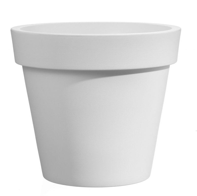 VECA - Bloempot Easy, rond Ø100 cm, H88 cm, wit - kunststofbloempot.nl