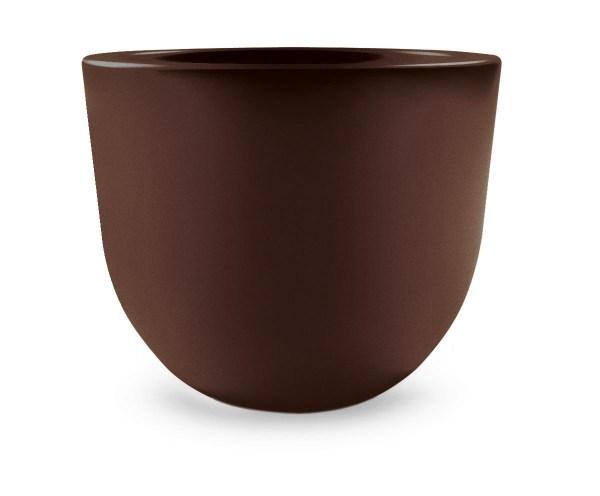 VECA - Bloempot Eggy, rond, Ø55 cm, H43 cm, bruin - kunststofbloempot.nl