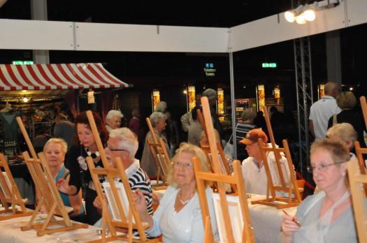 Schildercursus op de 50+ beurs in Utrecht via Omroep Max