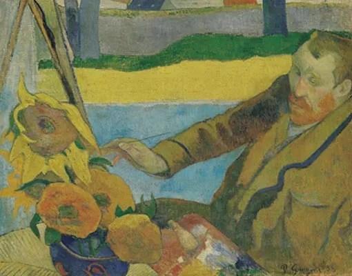 Gauguin - Portret van Van Gogh