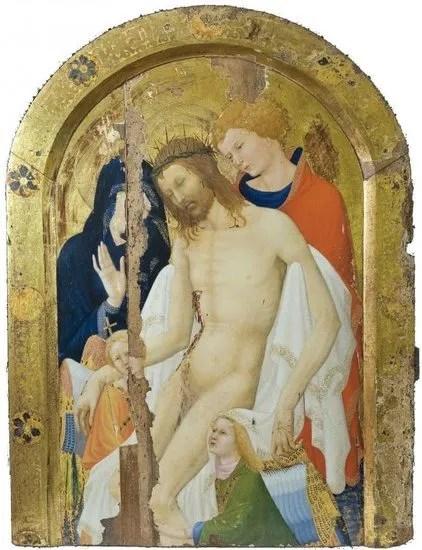 Jan Maelwael - Zittende Christus gesteund door de Heilige Johannes