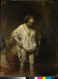 Rembrandt - Badende vrouw