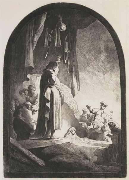 Rembrandt van Rijn - de Herrijzenis van Lazarus (1630)