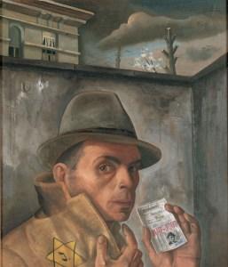 Felix Nussbaum - Zelfportret met joods identiteitsbewijs