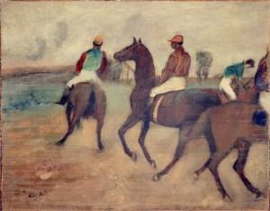 Edgar Degas - Voor de Rennen